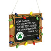 Boston Celtics NBA Resin Chalkboard Sign Ornament