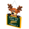Oakland Athletics MLB Reindeer With Sign Ornament