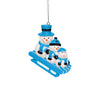 Miami Marlins MLB Sledding Snowmen Ornament