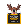 Missouri Tigers NCAA Reindeer With Sign Ornament