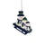 Seattle Seahawks NFL Sledding Snowmen Ornament