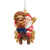 San Francisco 49ers NFL Mascot On Santa's Lap Ornament - Sourdough Sam