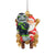 Seattle Seahawks NFL Mascot On Santa's Lap Ornament - Blitz