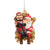 Tampa Bay Buccaneers NFL Mascot On Santa's Lap Ornament - Captain Fear