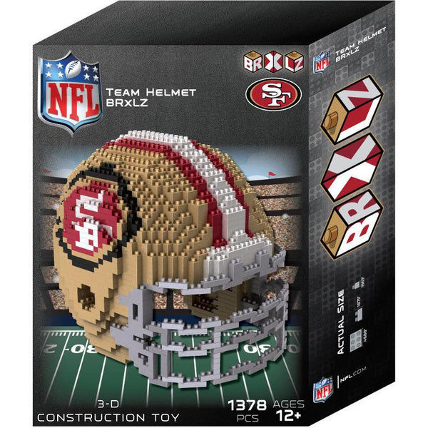 San Francisco 49ers NFL 3D BRXLZ Puzzle Helmet Set (PRE ORDER - Delivered By 12-19)