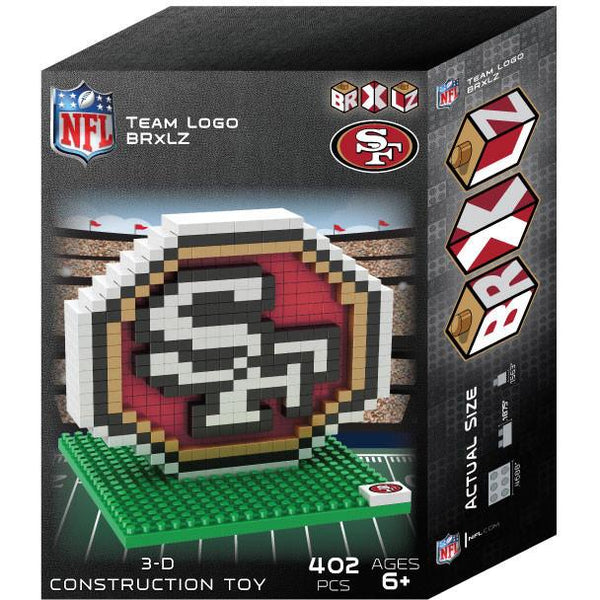 San Francisco 49ers NFL 3D BRXLZ Puzzle Team Logo (SHIPS IN EARLY DECEMBER)