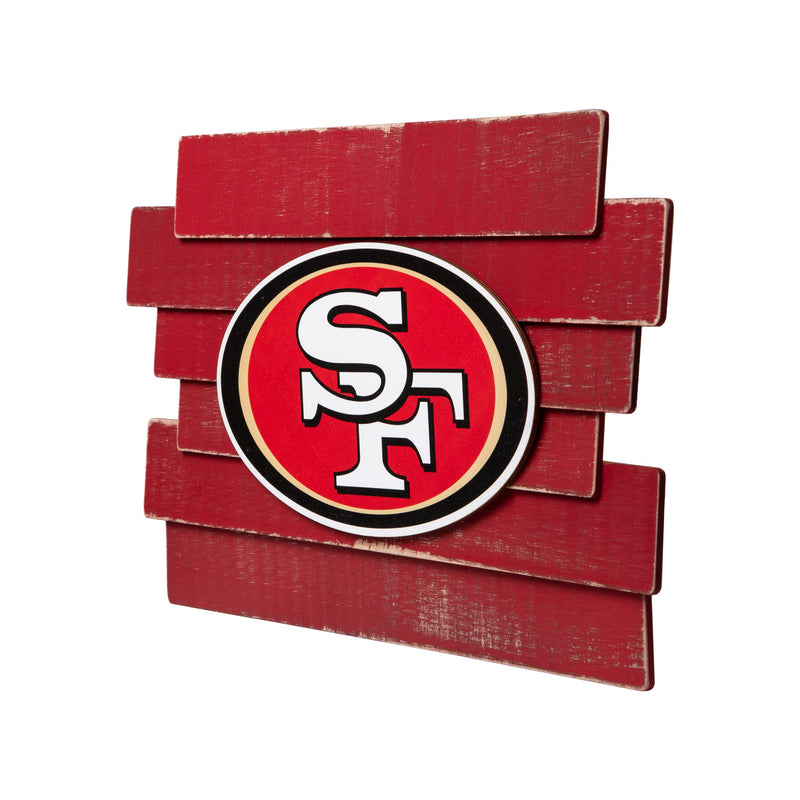 San Francisco 49ers Wood Sign State