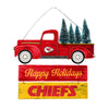 Kansas City Chiefs NFL Wooden Truck With Tree Sign
