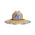 Air Force Falcons NCAA Floral Straw Hat (PREORDER - SHIPS LATE JUNE)