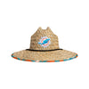 Miami Dolphins NFL Floral Straw Hat (PREORDER - SHIPS MID AUGUST)