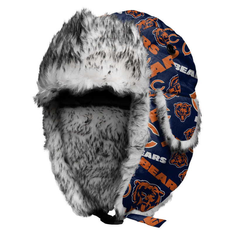 980389edaf0ce Chicago Bears Repeat Print Trapper Hat