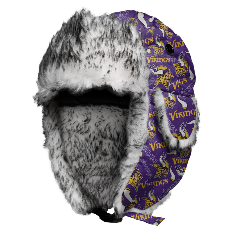 Minnesota Vikings Repeat Print Trapper Hat 4b1b1a73d4b