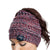 New England Patriots NFL Womens Color Wave Ponytail Beanie