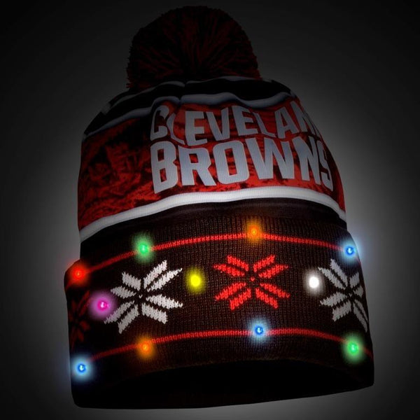 Cleveland Browns NFL Wordmark Light Up Printed Beanie