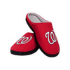 Washington Nationals MLB Mens Memory Foam Slide Slippers