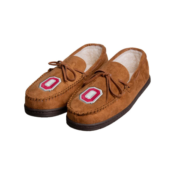 2485a34c Ohio State Buckeyes NCAA Mens Moccasin Slippers