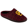 USC Trojans NCAA Mens Poly Knit Cup Sole Slippers