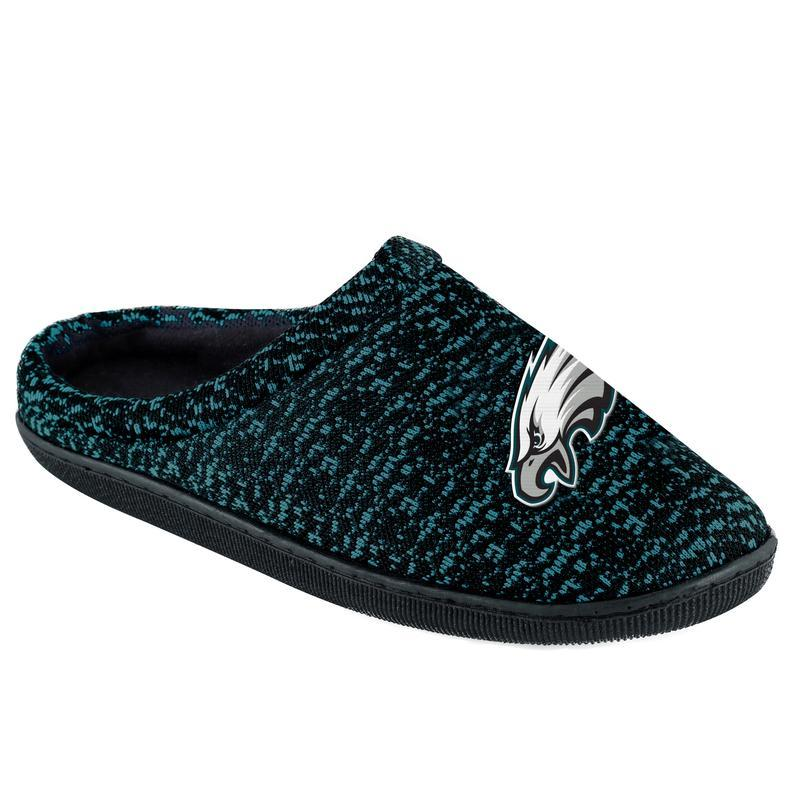 e15234d4 NFL Mens Poly Knit Cup Sole Slippers