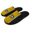Pittsburgh Penguins NHL Mens Big Logo Stripe Slippers