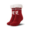 Alabama Crimson Tide NCAA Womens Stripe Logo Tall Footy Slipper Socks