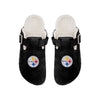 Pittsburgh Steelers NFL Womens Fur Buckle Clog Slippers