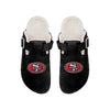 San Francisco 49ers NFL Womens Fur Buckle Clog Slippers