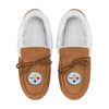 Pittsburgh Steelers NFL Womens Tan Moccasin Slippers (PREORDER - SHIPS LATE OCTOBER)