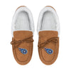Tennessee Titans NFL Womens Tan Moccasin Slippers (PREORDER - SHIPS LATE OCTOBER)