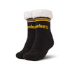 Pittsburgh Steelers NFL Womens Stripe Logo Tall Footy Slipper Socks