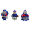 Buffalo Bills NFL 3 Pack Snowman Gameday Ornament Set