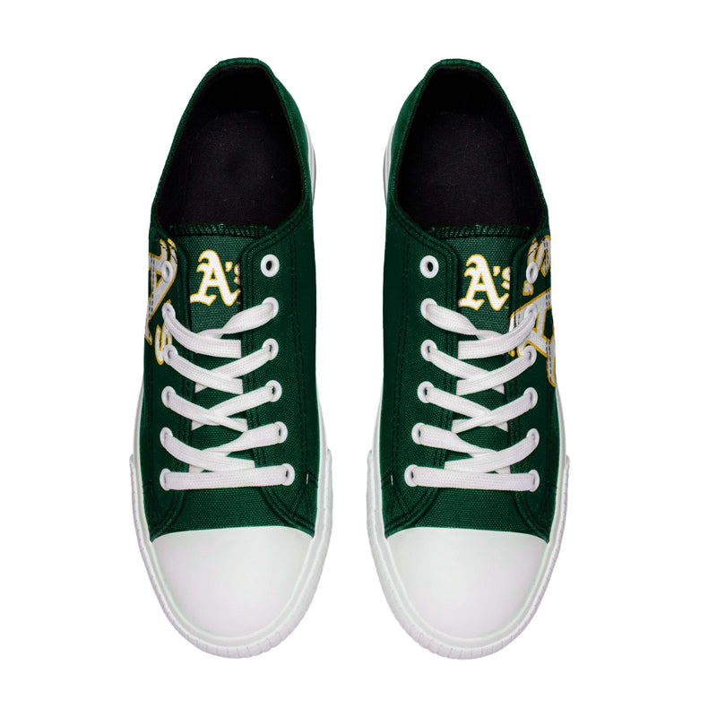 0e5bcc2c8956b Oakland Athletics MLB Mens Low Top Big Logo Canvas Shoes
