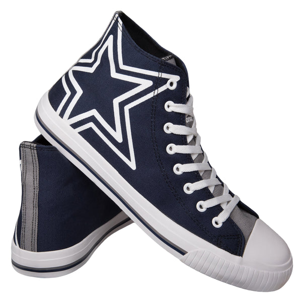 ec107334e65 Dallas Cowboys NFL Mens High Top Big Logo Canvas Shoes