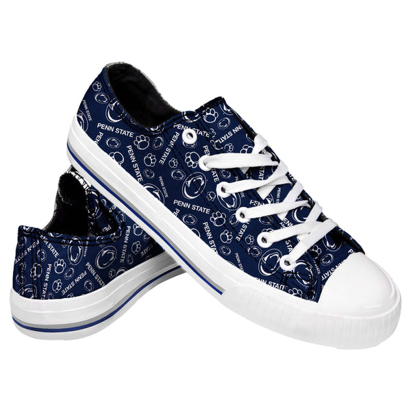 b4a004629fb Penn State Nittany Lions NCAA Womens Low Top Repeat Print Canvas Shoes