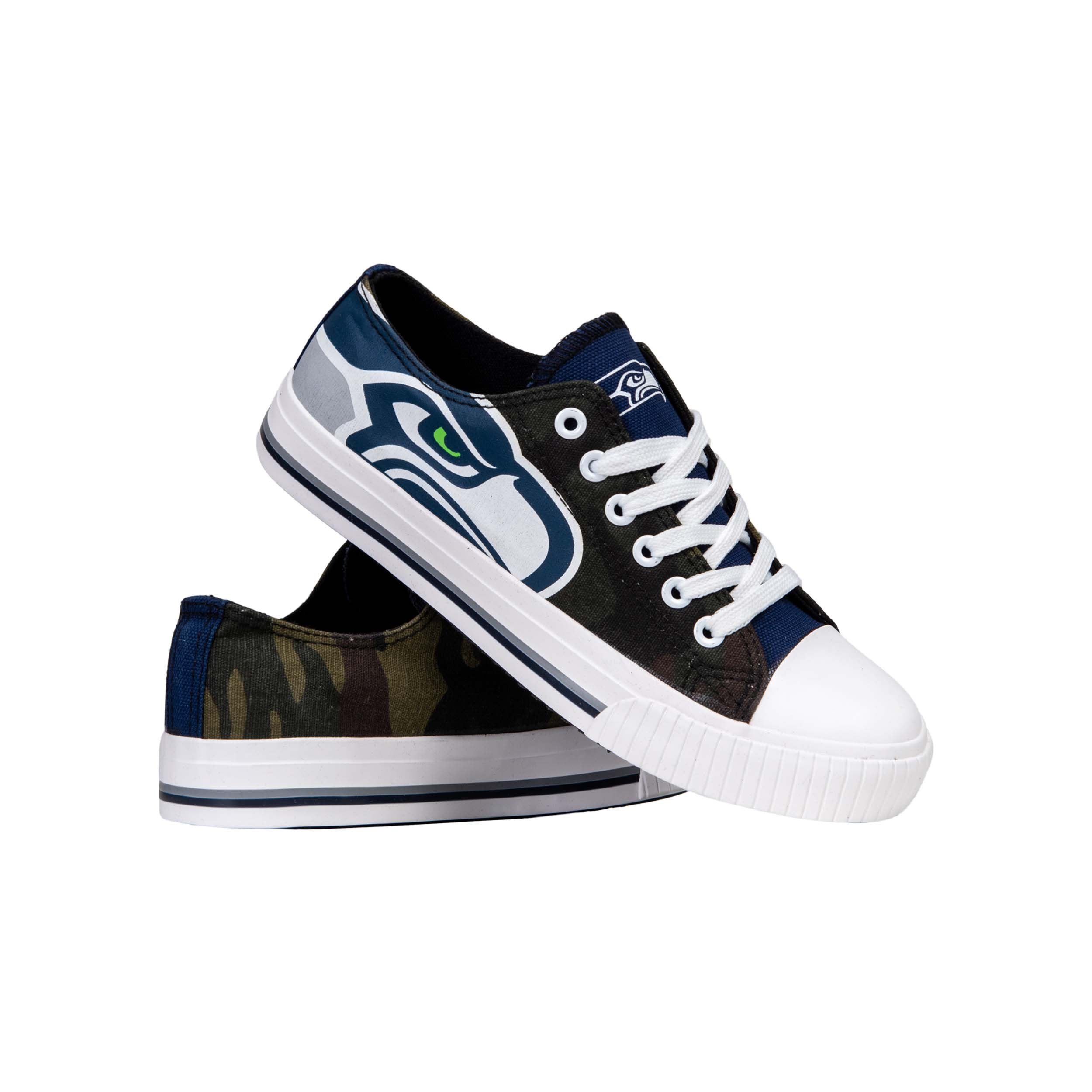 Seattle Seahawks Big Logo Low Top Sneakers Team Color Shoes US Men/'s Sizing