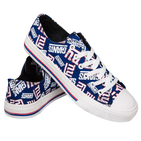 New York Giants NFL Womens Low Top Repeat Print Canvas Shoes 2b707c785602