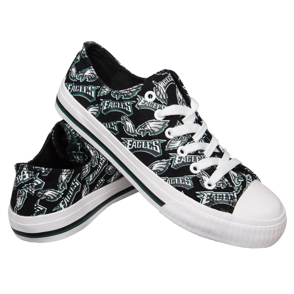 Philadelphia Eagles NFL Womens Low Top Repeat Print Canvas Shoes d505fee87
