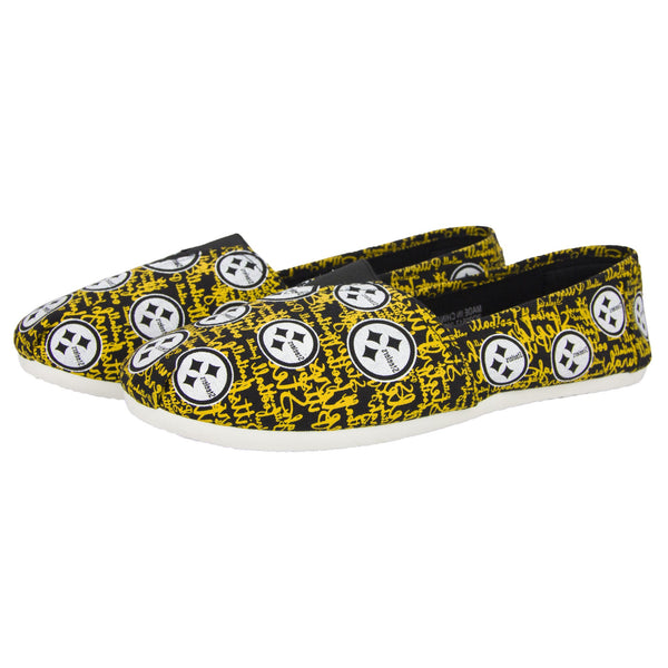 Pittsburgh Steelers NFL Womens Script Print Canvas Shoes 28699a40f