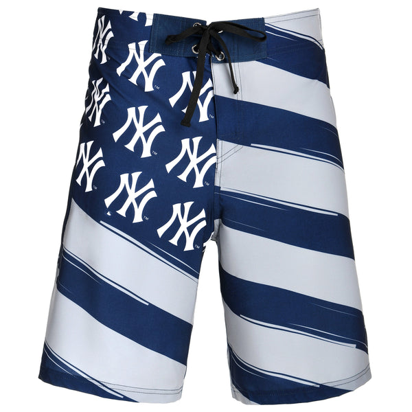 db1718f33e New York Yankees MLB Mens Diagonal Flag Board Shorts