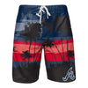 Atlanta Braves MLB Mens Sunset Boardshorts (PREORDER - SHIPS MID APRIL)