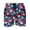 "Atlanta Braves MLB Mens Hibiscus Slim Fit 5.5"" Swimming Trunks (PREORDER - SHIPS LATE MARCH)"