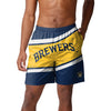 Milwaukee Brewers MLB Mens Big Wordmark Swimming Trunks
