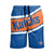 New York Knicks NBA Mens Big Wordmark Swimming Trunks