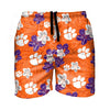 "Clemson Tigers NCAA Mens Hibiscus Slim Fit 5.5"" Swimming Trunks"