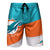 Miami Dolphins NFL Mens Color Dive Boardshorts