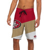 San Francisco 49ers NFL Mens Color Dive Boardshorts