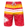 Kansas City Chiefs NFL Mens Hibiscus Boardwalk Stripe Boardshorts