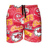 Kansas City Chiefs NFL Mens Logo Rush Swimming Trunks
