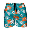 "Miami Dolphins NFL Mens Hibiscus Slim Fit 5.5"" Swimming Trunks (PREORDER - SHIPS IN MAY)"