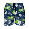 "Seattle Seahawks NFL Mens Hibiscus Slim Fit 5.5"" Swimming Trunks"