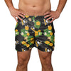 "Pittsburgh Penguins NHL Mens Floral Slim Fit 5.5"" Swimming Suit Trunks (PREORDER - SHIPS MID MARCH)"
